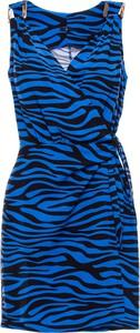 Niebieska sukienka Be mini bez rękawów