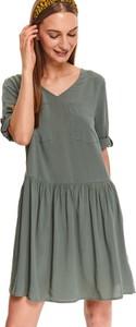 Sukienka Top Secret z długim rękawem z dekoltem w kształcie litery v mini