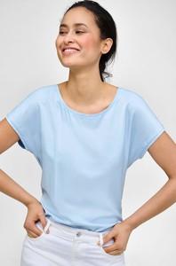 Niebieska bluzka ORSAY z tkaniny w stylu casual z krótkim rękawem