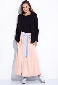 Różowa spódnica Bien Fashion z dzianiny