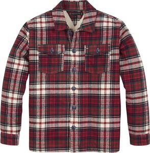 Czerwona koszula dziecięca Tommy Hilfiger dla chłopców w krateczkę