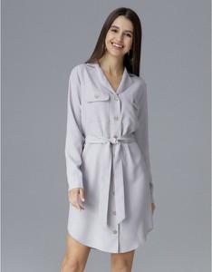 Sukienka Figl koszulowa w stylu casual z długim rękawem