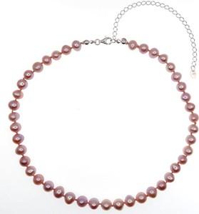 Zerin ZELDA Naszyjnik różowe naturalne perły 3in1 obroża chocker kolia regulowany
