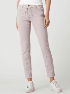 Różowe jeansy Rosner z bawełny