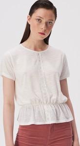 T-shirt Sinsay w stylu boho z okrągłym dekoltem z krótkim rękawem