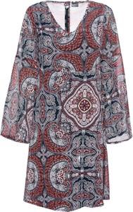 Sukienka bonprix BODYFLIRT koszulowa w stylu boho z okrągłym dekoltem