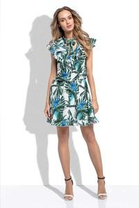 Sukienka Fobya ze sznurowanym dekoltem mini