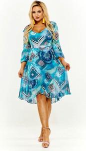 Sukienka Rossa midi z długim rękawem