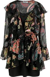 Sukienka Liu-Jo w stylu boho mini z długim rękawem