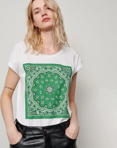 T-shirt Reserved z nadrukiem w młodzieżowym stylu