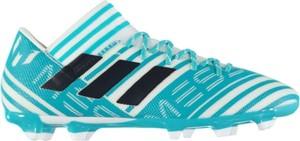Błękitne buty sportowe Football sznurowane