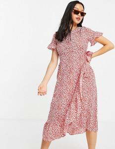 Czerwona sukienka Vero Moda w stylu casual midi