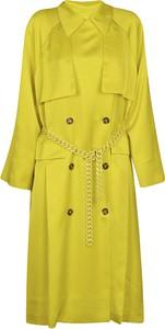 Żółty płaszcz MSGM z wełny w stylu casual
