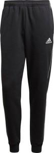 Granatowe spodnie sportowe Adidas z dresówki