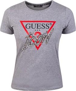 Bluzka Guess z bawełny z krótkim rękawem