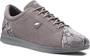 Buty sportowe Geox w stylu casual ze skóry sznurowane