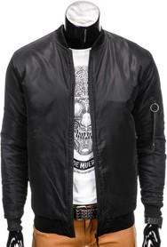 Ombre clothing kurtka męska przejściowa bomberka c193 - czarna