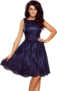 Granatowa sukienka NUMOCO bez rękawów