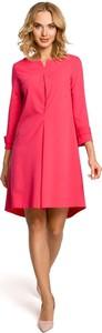 Sukienka MOE z dekoltem w kształcie litery v mini w stylu casual
