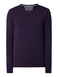 Fioletowy sweter S.Oliver Red Label z bawełny