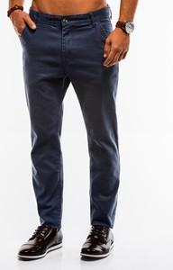 Granatowe spodnie Edoti
