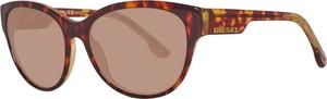 Brązowe okulary damskie Diesel