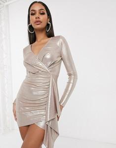 Złota sukienka Femme Luxe mini