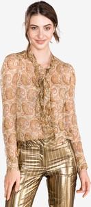 Brązowa bluzka Twinset z długim rękawem z jedwabiu