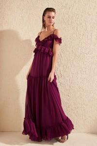Sukienka Trendyol z krótkim rękawem rozkloszowana