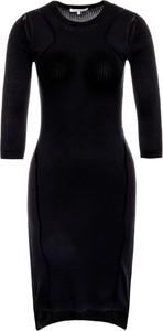 Czarna sukienka Patrizia Pepe dopasowana midi