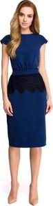 Sukienka Style ołówkowa z krótkim rękawem midi