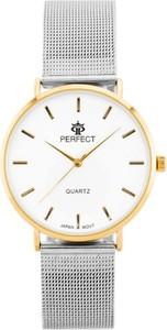 ZEGAREK DAMSKI PERFECT B7304 antyalergiczny (zp852b) silver/gold - Złoty || Srebrny