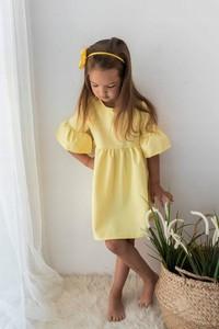 Żółta sukienka dziewczęca Myprincess / Lily Grey z bawełny