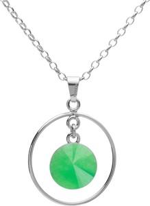 GIORRE Okrągły naszyjnik z naturalnym kamieniem - chryzopraz, srebro 925 : Długość (cm) - 45 + 5, Kamienie naturalne - kolor - chryzopraz zielony ciemny, Srebro - kolor pokrycia - Pokrycie platyną