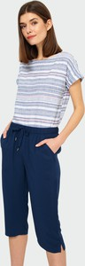 Bluzka Greenpoint w stylu casual z krótkim rękawem z okrągłym dekoltem