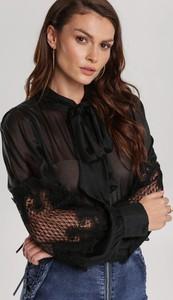 Czarna bluzka Renee ze sznurowanym dekoltem