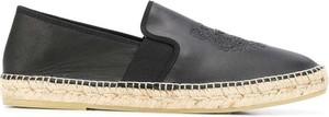 Czarne buty letnie męskie Kenzo z tkaniny