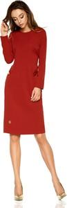 Sukienka TAGLESS z okrągłym dekoltem z długim rękawem mini