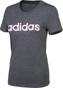 Granatowy t-shirt Adidas z bawełny
