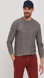 Sweter Selected z okrągłym dekoltem z dzianiny