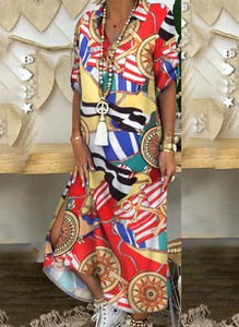 Sukienka Cikelly z bawełny z dekoltem w kształcie litery v