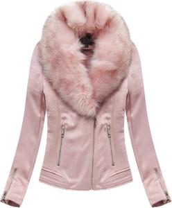 Różowa kurtka Libland w rockowym stylu