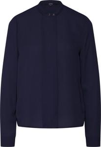 Niebieska bluzka Vero Moda z okrągłym dekoltem z długim rękawem