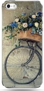 Etuistudio Etui na telefon rower z kwiatami.