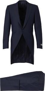 Niebieski garnitur Canali z wełny