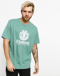 Zielony t-shirt Element z bawełny z krótkim rękawem