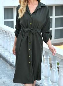 Sukienka Cikelly z długim rękawem mini koszulowa