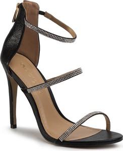Sandały Eva Longoria ze skóry na wysokim obcasie