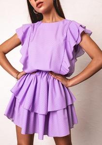Sukienka Latika w stylu casual z bawełny mini