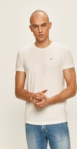 T-shirt Tommy Jeans z dzianiny z krótkim rękawem